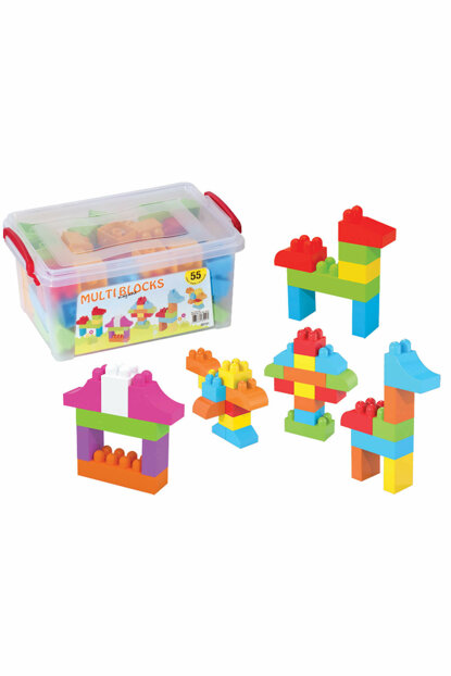 Grandfather 03151 Boxed Multi Blocks Small Box 55 Pieces / 67.03.6005.033