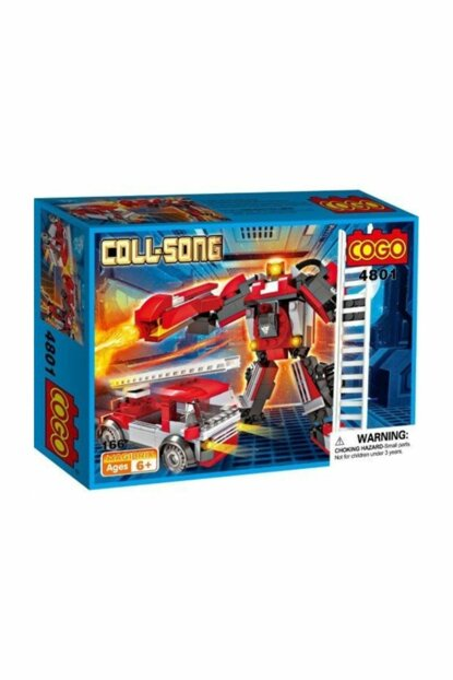 Cogo Transformers Fire Truck - Robot 166 Pieces Making Toy PRA-125790-8845