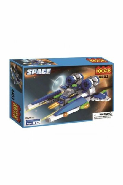 Cogo Space Set Single Spacecraft 304 Piece Making Toy PRA-125792-9712