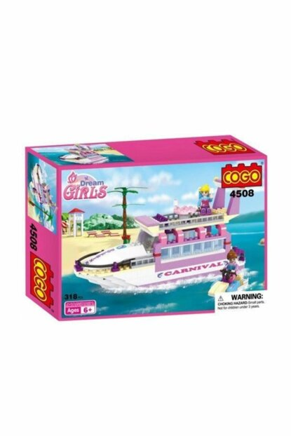 Cogo Princess Set Princess's Yacht 318 Piece Making Toy PRA-125784-7426