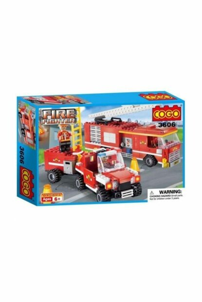 Cogo Firefighter Kit Firefighting Material Truck 324 Piece Making Toy PRA-125810-2113