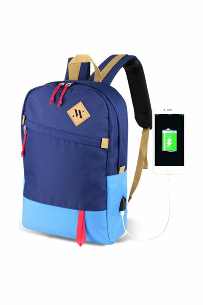 My Valice Smart Bag Freedom Usb Charging Port Smart Backpack Navy Blue - Blue / MV5014