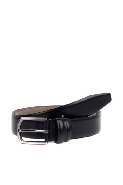 Genuine Leather Black Men Belt KM 02 R31 BLACK SCOTCH