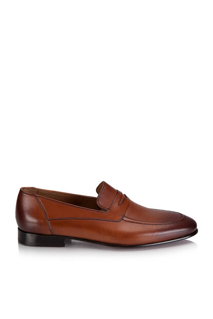Genuine Leather Taba Men's Shoes 02AYH120070A370