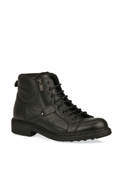 Genuine Leather Black Men Boots 9319 7018_000