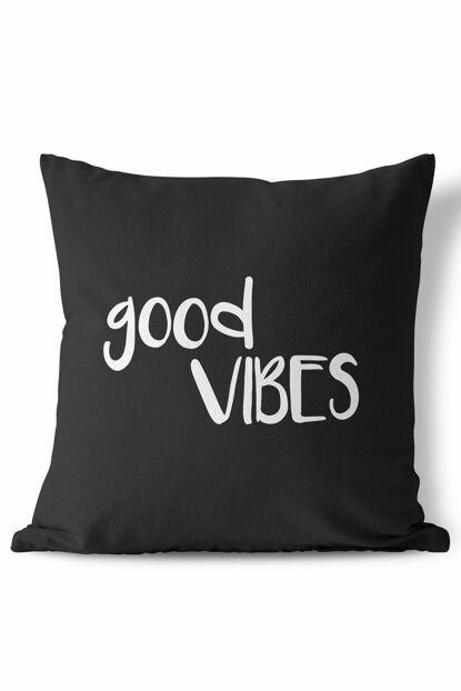 Good Vibes Black Pillow 108SYH