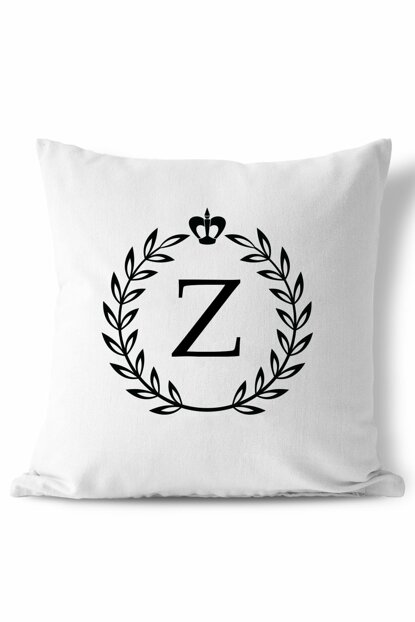 Letter Z Wreath Design Pillow 154BYZ
