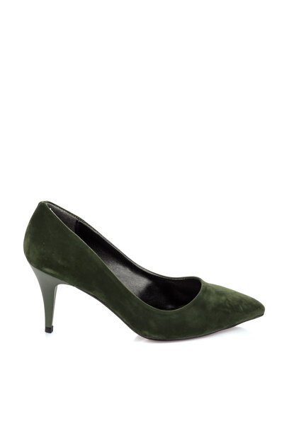 Green Suede Women's Heels Shoes A11905-17 A11905-17