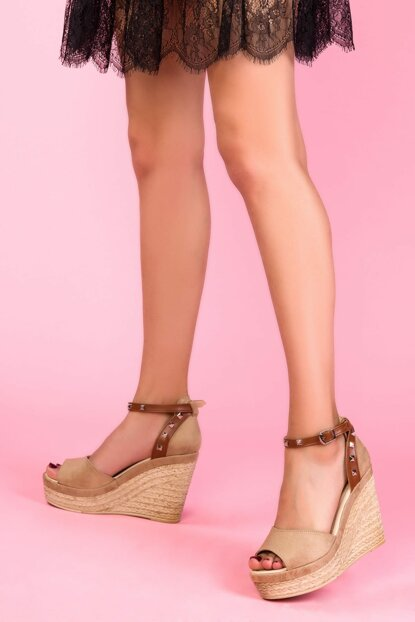 Ten Suede Women's Wedge Heeled Shoes 13446
