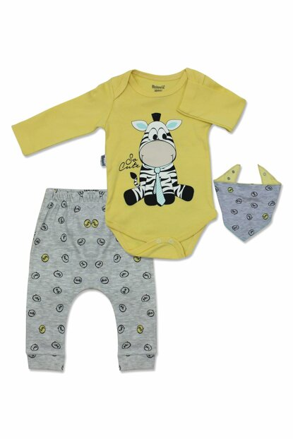Zebra Yellow 3 Lu Baby Boy Suit K2696