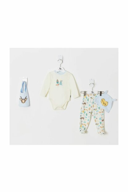 Printed Baby Boy 4 Pieces Set WK19AW1137