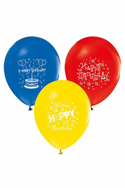 """Pastel Balloon with Toy Printed 100 """"12Cm 8697426900087"""