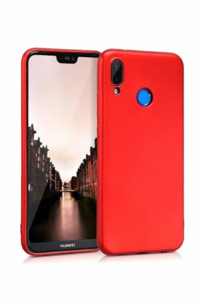 Rich Shop Huawei P20 Lite Soft Silicone Case P20LITE - RED