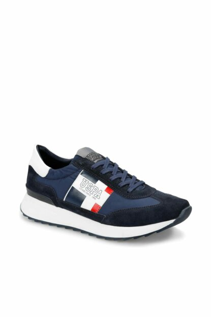 Genuine Leather Navy Blue Men's Shoes 000000000100356619