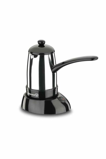 A365 Korkmaz Smart Glossy Inox / Black Electric Coffee Pot Machine