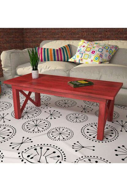 Ricco Wooden Coffee Table - Red PUAS2004