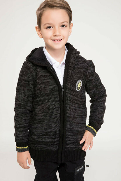 Anthracite Boy Casual Cut Cardigan I9210A6.18AU.AR102