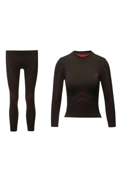 2As High Perfomance Kids Thermal Underwear Suit Black Red 2Asw175177Blkred19X 2ASW175177BLKRED19X