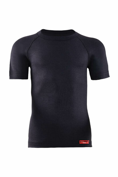 Kids Black 2nd Level Thermal T-Shirt 9267 80590