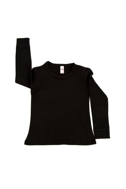 Kids Black Long Sleeve Thermal Top C0111Y0010
