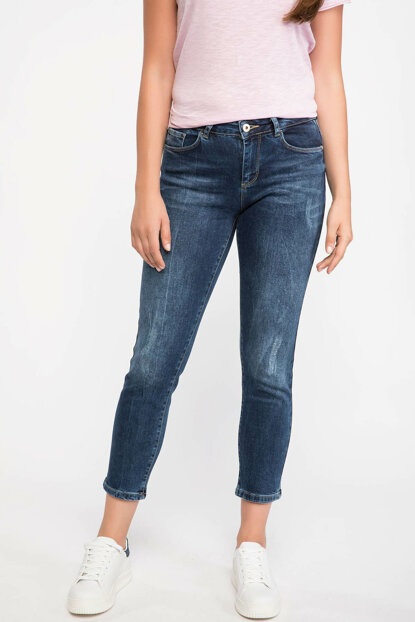 Women's High Waist Casual Mold Denim Pants H1840AZ.18AU.NM28