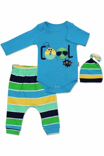 Cool Baby Set with Blue Striped Hat K2713