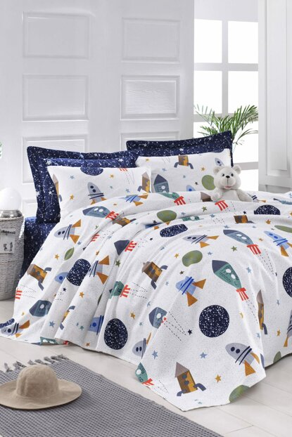 100% Natural Cotton Double Pike Team Spacex Navy Blue Ep-020118