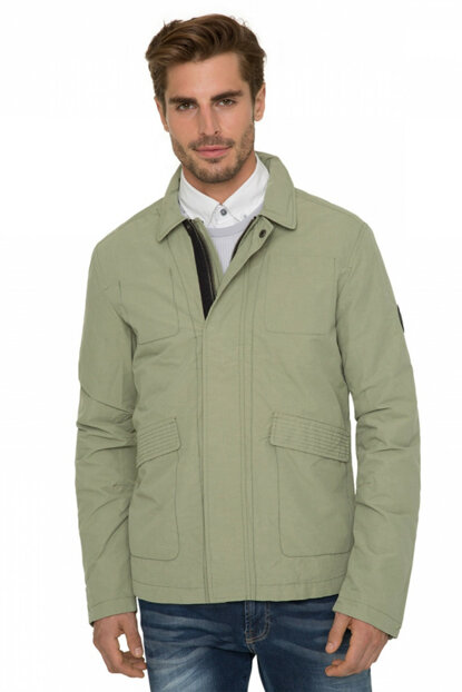 Men's Light Green Coat CHS-1801-2007_275