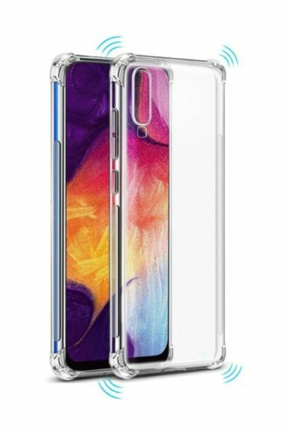 Rich Shop For Samsung Galaxy A70 Ultra Thin Transparent Airbag Anti Shock Silicone Case - And Screen Protector A70 TRANSPARENT-CAM