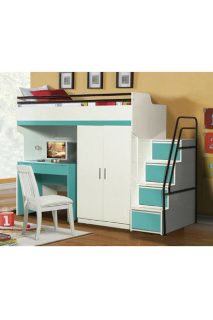 Bueno Bunk Bed Cabinet Turquoise 137