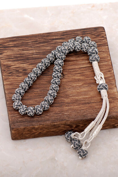 Kazaziye Hand Wrap Two Colors Small Size Silver Rosary 146 315238