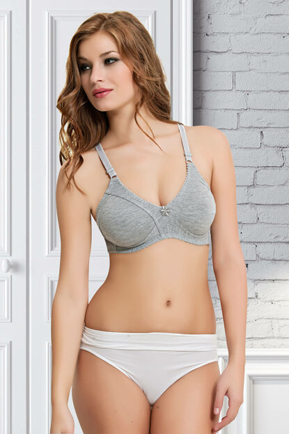 Women's Gray Combed Bra NBB 351