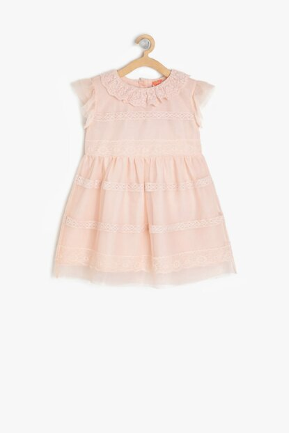 Pink Baby Girl Lace Detailed Dress 9YMG89314OW