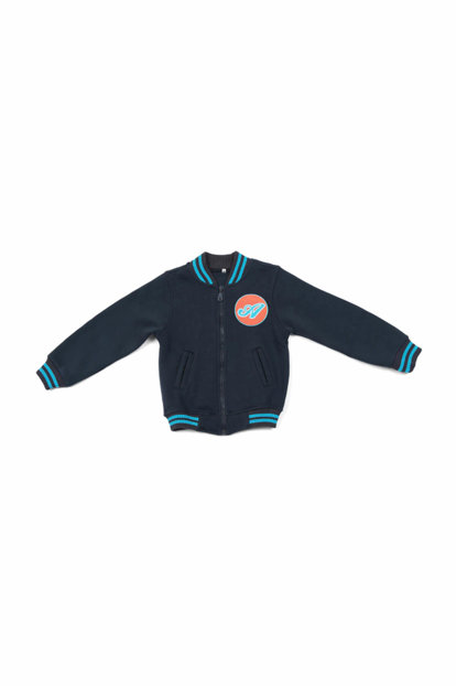Sportive Kids Zippered Navy Blue College Coats 0634702