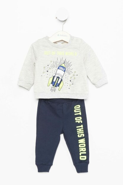 Gray Baby Boy Printed Set J8019A2.18AU.GR110