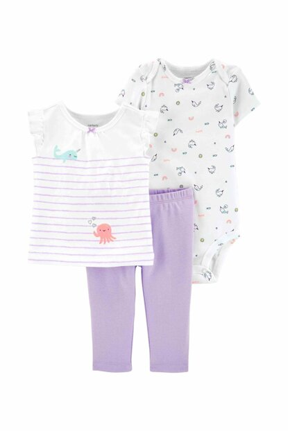 Lilac Layette Baby Girl Set of 3 16632910