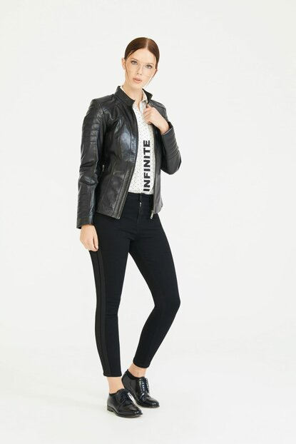 Whitley Black Leather Jacket (Women) BD00087