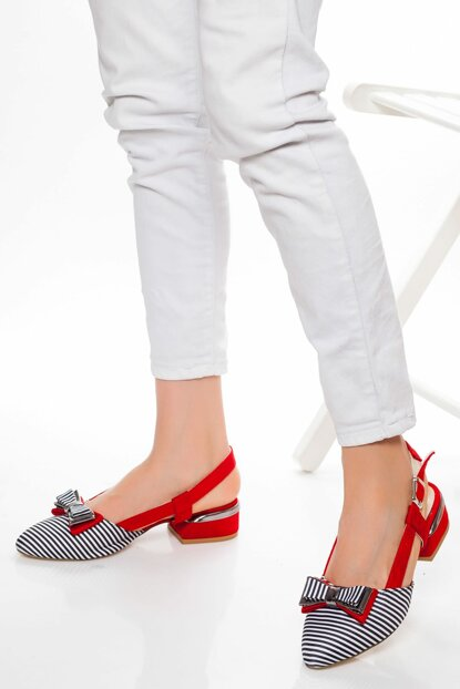 Red Suede Women High Heels Shoes VZY6300