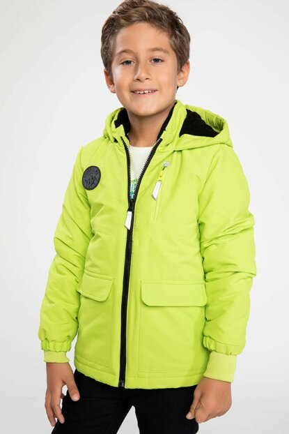 Hooded Neon Coat I9879A6.18WN.GN636