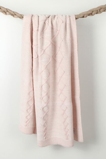 Knitted Baby blanket 90x90cm BAP17504PINK