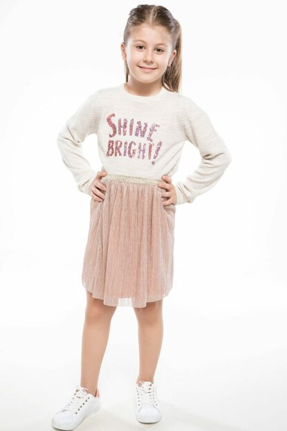 Golden Young Girl Young Girl Silvery Skirt J4974A6.18AU.GD5