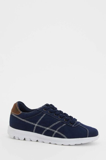 Men's Navy Blue Sneaker Lace-up Shoes L3031AZ.19SP.NV35