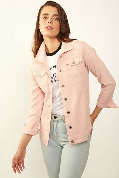 Women Loose Ripped Jeans Jacket 0616BGD19_012