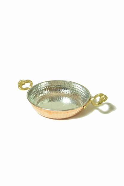 Classic Copper Pan With Brass Handle 1277-1193