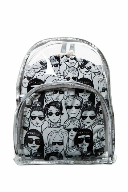 Transparent Backpack People With Inner Bag BHP1878