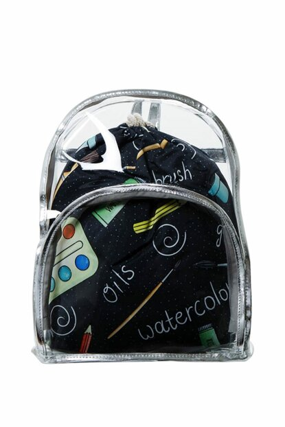 Transparent Backpack Painter with Inner Bag BHP1882