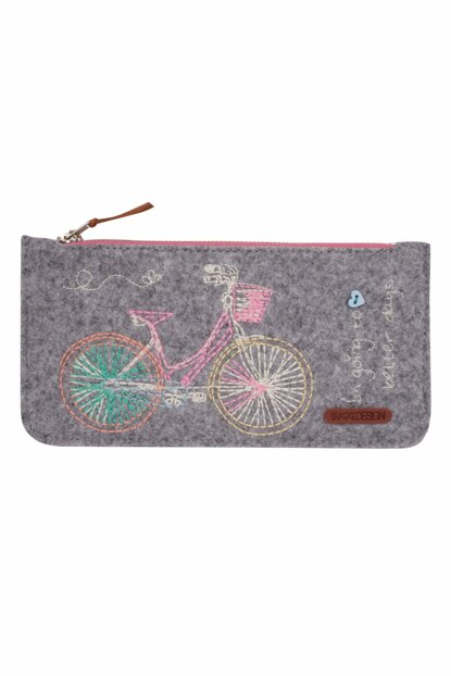 Bicycle Felt Small Bag with Zipper BGD06001020202