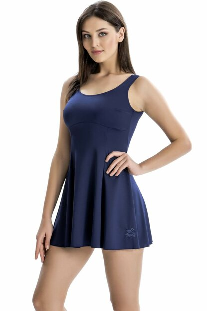 Women's Strap Swimsuit Skirt With Shorts 8001 ARMSS8001-02