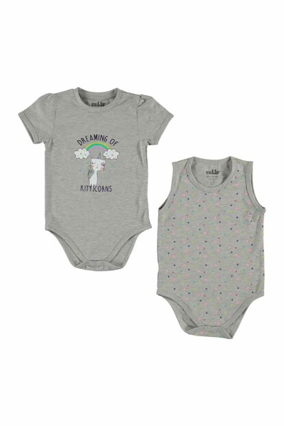 Baby Girls' Body with Snaps 6- Gray 145879228Y92