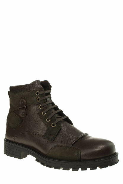 Genuine Leather Brown Men's Boots 190 20475M